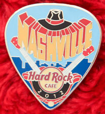 Hard Rock Cafe Pin NASHVILLE Postcard GUITAR PICK Serie Cowboy hat country music