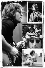 John Lennon Beatles - Licensed Bob Gruen Maxi Poster 91.5 x 61cm - Collage - NYC