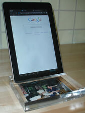 Tablet Stand, Crystal Clear Acrylic Stand with Picture Holder