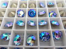 6 Light Sapphire AB Swarovski Crystal Chaton Stone 1088 39ss 8mm