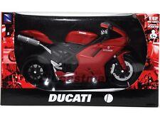 NEWRAY 1:12 DUCATI 1198 DIECAST MOTORCYCLE 848 RED 57143