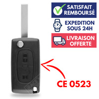 Coque Clé Boitier pour Télécommande Plip CITROEN C2 C3 C4 C5 C6 Berlingo ➜CE0523