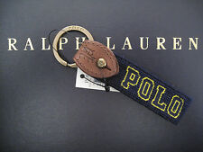 Polo RALPH LAUREN Wool Needlepoint POLO FOB Key Chain Keychain Keyring