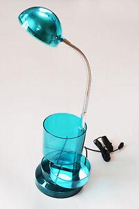 Tischlampe LED 3W Lampe Tischleuchte Schreibtisch Petrol Blau Schwingkopf