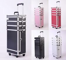 FoxHunter Makeup Trolley – Beauty Box Hairdressing Nails & Cosmetics Case 4 In 1