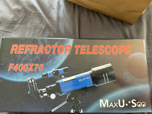 MaxUSee 70mm Refractor Telescope With Tripod & Finder Scope for Kids
