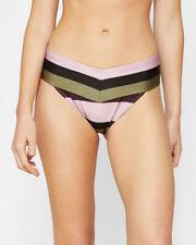 NEW TED BAKER LONDON 'Terena' Imperial Stripe Bikini Bottoms SZ 2 (S) Dusky Pink
