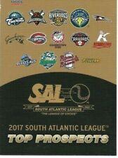 2017 South Atlantic League Top Prospects (Pick Your Card)