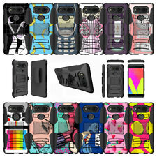 For LG V20 (2017) Shockproof Holster Clip Case Kickstand - Vintage Designs