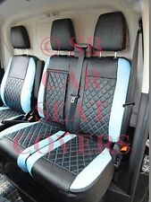 TO FIT A FORD TRANSIT CUSTOM 2019 , VAN, SEAT COVERS, BLACK / BLUE DIAMOND