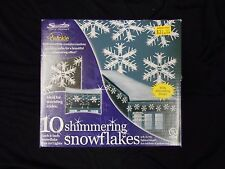 10 Shimmering Light Snowflake set(Gutters, Porches and Trees)
