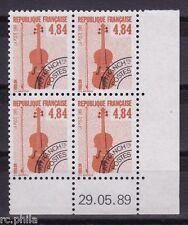 RC003428 FRANCE 205 PRÉO 4,84f INSTRUMENTS DE MUSIQUE COIN DATÉ NEUF **