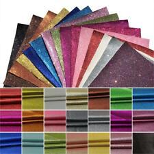 PU Leather Fabric Felt Backed A4 Sheets Glitter Shiny Hair Bows DIY 21cm*30cm