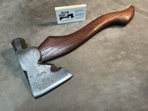 Vintage Plumb carpenters axe hatchet hammer POLISHED custom JESSE REED handle