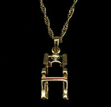 4D Chair Necklace Designer Pendant 24k GP Xmas Gift Classic Furniture Jewelry