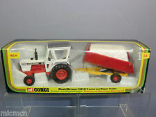 "CORGI TOYS MODEL No.GS34  ""DAVID BROWN""  1412  TRACTOR  & TIPPING TRAILER  MIB"