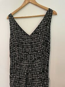 New Whistles Size 14 Black And White Jumpsuit
