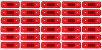 30x 24V LED Posteriore Lato Rosso Luci di Ingombro per Camion Trailer Telaio DAF