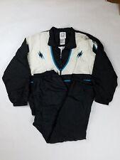 Wilson Tracksuit Vintage SIZE LARGE Zip Up Jacket Jogger Pants Windbreaker Black