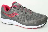 Saucony Womens Echelon 6 Ankle High Mesh Running Shoes Gray Pink Size 11 M