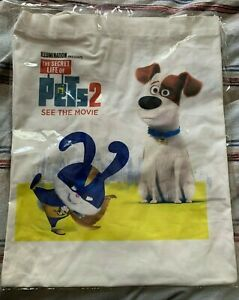 THE SECRET LIFE OF PETS 2 - 2019 TOTE BAG, ILLUMINATION ENTERTAINMENT SEALED NEW