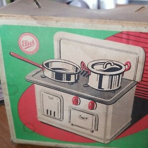DDR Efzet Kinderherd Backofen Puppenspielzeug Blechspielzeug  Kochherd
