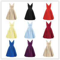 Short A-line Satin Prom Dress Formal Evening Party Cocktail Homecoming Dresses