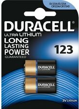 2 x Duracell Ultra Lithium CR123A CR17345 EL123 3V Batteries EXP:2026