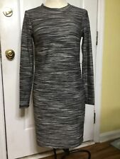 Trina Turk Women's Black, Gray and White Long Sleeved Dress, size S