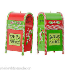 Mailbox Christmas Ornaments Holly Houndstooth Set 2 rzchhh 3607022 NEW RAZ
