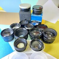 Teleconversion Lens Joblot  Of 13 Units Various Sizes Macro, Wide Angle, Lomo