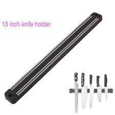 "13"" inch Magnetic Knife Holder Wall Mount  Magnet For Metal Knives Plastic Block"