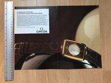 Omega La Magique 18ct 1981 Two Page Advertisement Pub Ad Werbung
