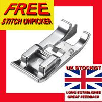 SEWING MACHINE EDGE GUIDE PRESSER FOOT + FREE UNPICKER sa/116