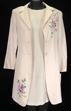 Jessica Howard Dress Suit 8 Pink Rayon Rose Floral Mother of Bride 2pc Coat Set
