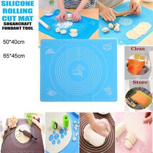 Baking Mat Non Stick Silicone Pastry Kneading Rolling Mat Fondant Cake Dough