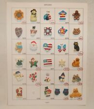 Salesman Sample Card of 29 Hand Painted Novelty Buttons, Collectors & Crafts # 6