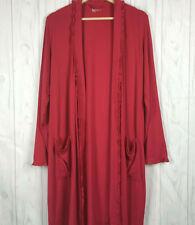 Gap Body Robe Size Small Women Pink Long Sleeve Open Front Ruffle Trim Stretch