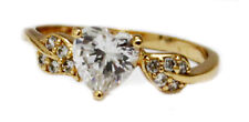18K Gold Filled Cubic Zircon Women's Ring size 8.75  - FREE Shipping