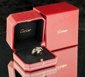 Cartier Trinity Classic Ring Size 58 Yellow Rose White Gold with Original Box