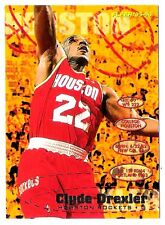 Clyde Drexler 1995-96 Fleer Houston Rocket Insert Basketball Card