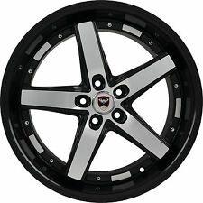 4 GWG WHEELS 20 inch Black Machined DRIFT Rims fits ET35 FORD MUSTANG GT 2006