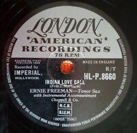 """Ernie Freeman Indian Love Call (1958) 78rpm Shellac 10"""" London Am. HL-P.8660 EX+"""