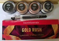 Bare Escentuals bareMinerals GOLD RUSH Collection Set 4pc Eye Color w/ brush