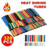 328pcs Cable Heat Shrink Tubing Sleeve Wire Wrap Tube 2:1 Assortment Kit Tool ..