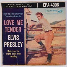 ELVIS PRESLEY: Love Me Tender RCA EPA-4006 45 EP PS Rare Silver Line 2s/2s