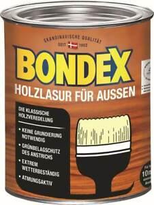 Bondex Holzlasur für Außen, 0,75l für 9,75 m², 14Farben, witterungsbeständig