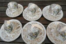Unboxed Earthenware 1940-1959 Pottery Cups & Saucers