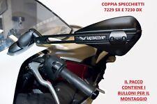 COPPIA SPECCHIETTI RETROVISORI FAR 7230 E 7229 NERI MOTO CARENATE VIPER