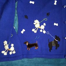 Jack B Quick Sweater XL Dogs Puppy Dog Poodle Dachshund Dalmatian Terrier Beaded